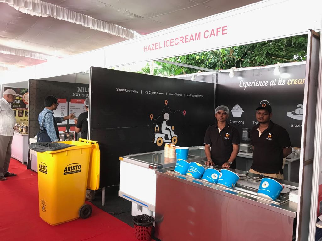 Hazel Ice Cream Cafe exhibition stall at FTAPCCI Food Industry Conclave held at Vijayawada on Jan 4 - 6, 2018 ( (3)